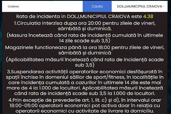 Afla rata de incidenta si restrictiile impuse